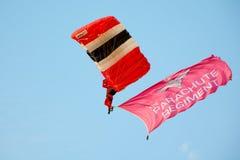 Parachutist красных дьяволов стоковое изображение rf