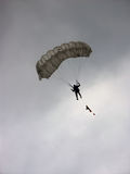 Parachutist. In the air stock photography