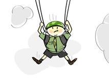 Parachutist Stockfotografie