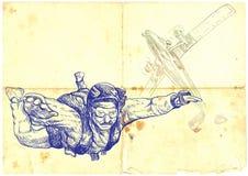 Parachutist Royalty Free Stock Image