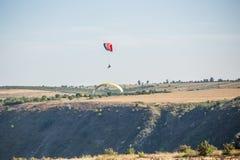parachutist Royaltyfri Bild