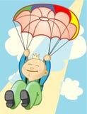 Parachutist stock illustratie