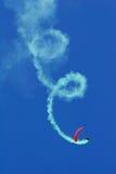 Parachutist aerobatics Stock Image