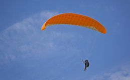 Parachutist against Royalty Free Stock Images