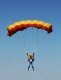 Parachutist against sky Royalty Free Stock Image