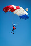Parachutist. On the blue sky Royalty Free Stock Photography
