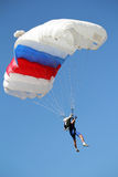 Parachutist flying Stock Photo