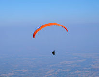 Parachutist going against the sky Royalty Free Stock Image