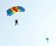 Parachutist Jumper Stock Photo