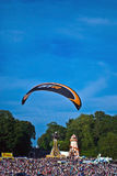 Parachutist landing. Stock Photography