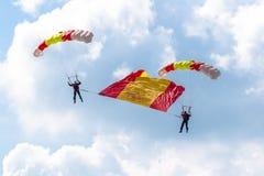Parachutist PAPEA Стоковые Изображения