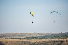 Parachutist. Parachute jumper Orheiul Vechi stock images