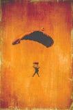 Parachutist przy Meksykańskim pokazem lotniczym Zdjęcia Stock