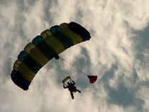 The parachutist royalty free stock image