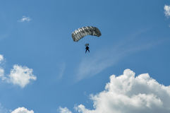 Parachutist and sky. In background Stock Photos