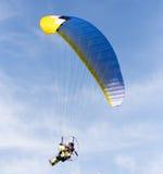 Parachutist in the sky Stock Photo
