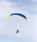 Parachutist in the sky. A parachutist in the sky . A photo Royalty Free Stock Image
