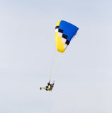 Parachutist in the sky. A parachutist in the sky . A photo Royalty Free Stock Photography