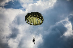 Parachutist in the war Stock Photos