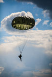 Parachutist in the war Royalty Free Stock Photography