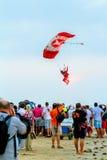 Parachutist of the X-Treme flight team Stock Image