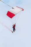 Parachutist of the X-Treme flight team Royalty Free Stock Photography
