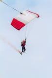 Parachutist of the X-Treme flight team Royalty Free Stock Photography