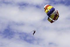 Parachutiste de plage Photos libres de droits