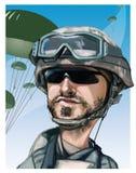 Parachutiste des Etats-Unis Photo stock