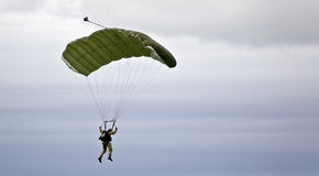 Parachutiste militaire Photos stock