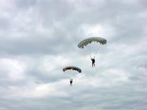 Parachutisten Stock Foto's
