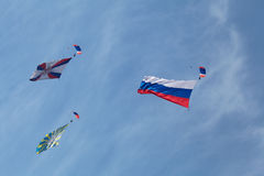 Parachutistes Images libres de droits