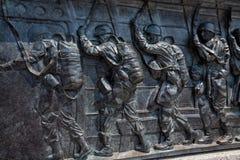Parachutistes américains--Mémorial de la deuxième guerre mondiale Image stock