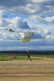 Parachutistes de chute Photo stock