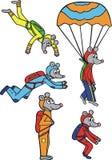 Parachutistes de Mouses Photos libres de droits
