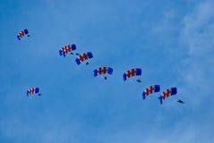 Parachutists военно-воздушных сил Великобритании. Стоковое Фото
