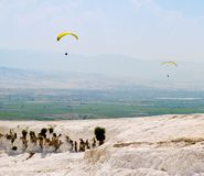 2 parachutists Стоковое Изображение