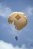 Parachutists скача спортсмены Стоковое Изображение RF