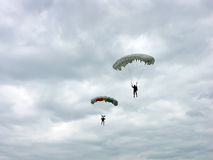 Parachutists. Two parachutists Stock Photos