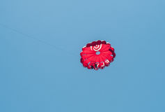 The parachutists in the clouds Royalty Free Stock Image