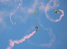 Parachutists dell'esercito Immagini Stock