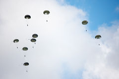 Parachutists in the sky Stock Photography