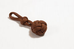 Paracord ball 02. Brown paracord ball detail view Stock Images