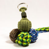 Paracord balls 03. Stacked paracord balls different colors Royalty Free Stock Photo