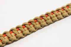 Paracord bracelet 07. Paracord bracelet detail view knot royalty free stock images