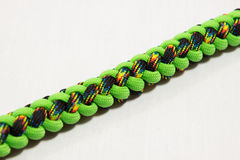 Paracord bracelet 17. Paracord bracelet detail view knot stock photography