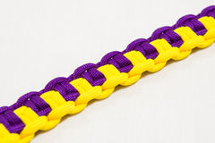 Paracord bracelet 10. Paracord bracelet detailed view of knot Royalty Free Stock Photos