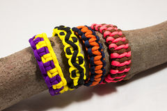 Paracord bracelets 03. Paracord bracelet detail view knot stock photography