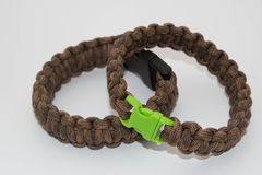 Paracord. Bracelets. Handmade. The new craze Royalty Free Stock Images
