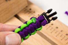 Paracord manual. Serries on how to know a basic paracord bracelet Royalty Free Stock Photography